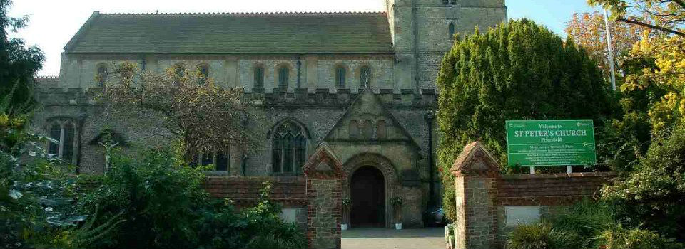 St Peter's Church from the front