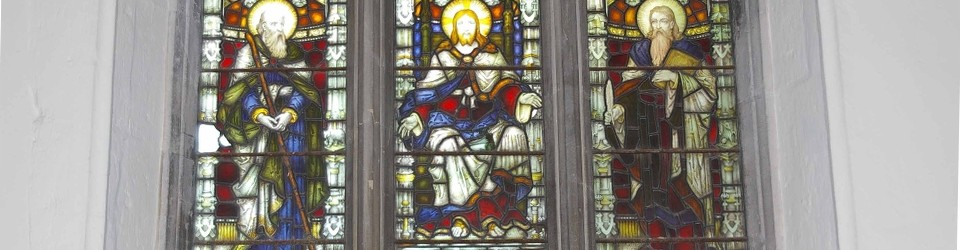 A Stained Glass Window at St Peter's Church