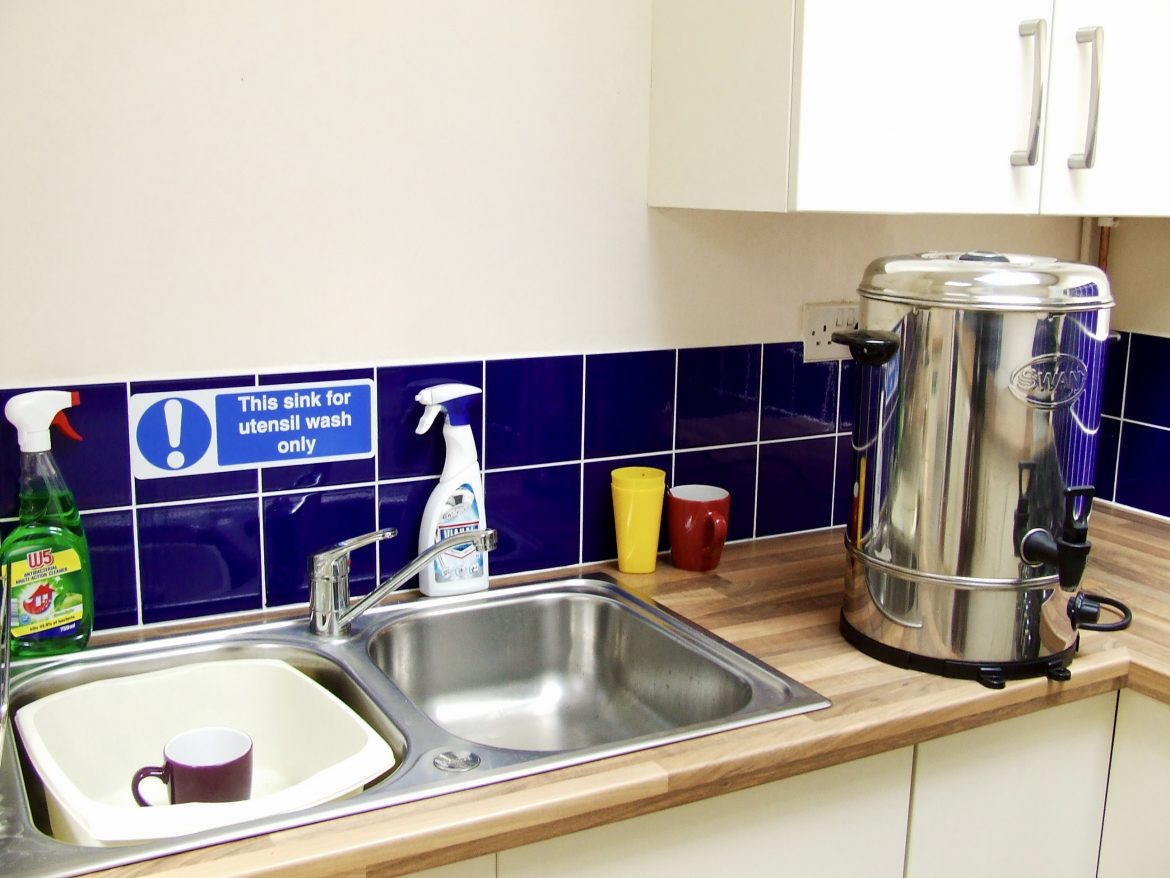 Sink and Tea Urn