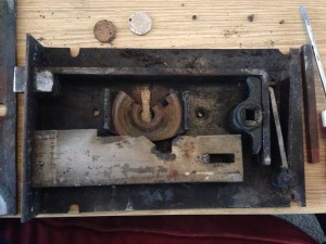 Insides of the lock