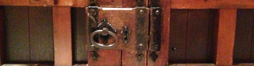 Lock back on the door