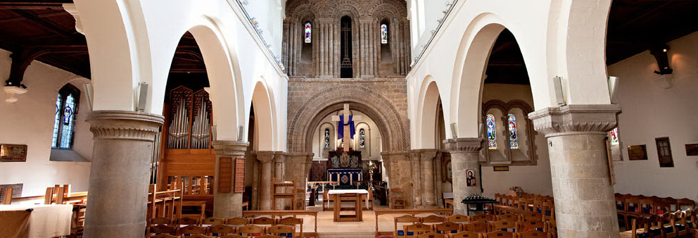 The interior of St Peter's Church